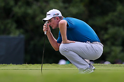 September 22, 2018 - Atlanta, Georgia, United States - Justin Rose lines up a putt on the 7th green during the third round of the 2018 TOUR Championship. (Credit Image: © Debby Wong/ZUMA Wire)