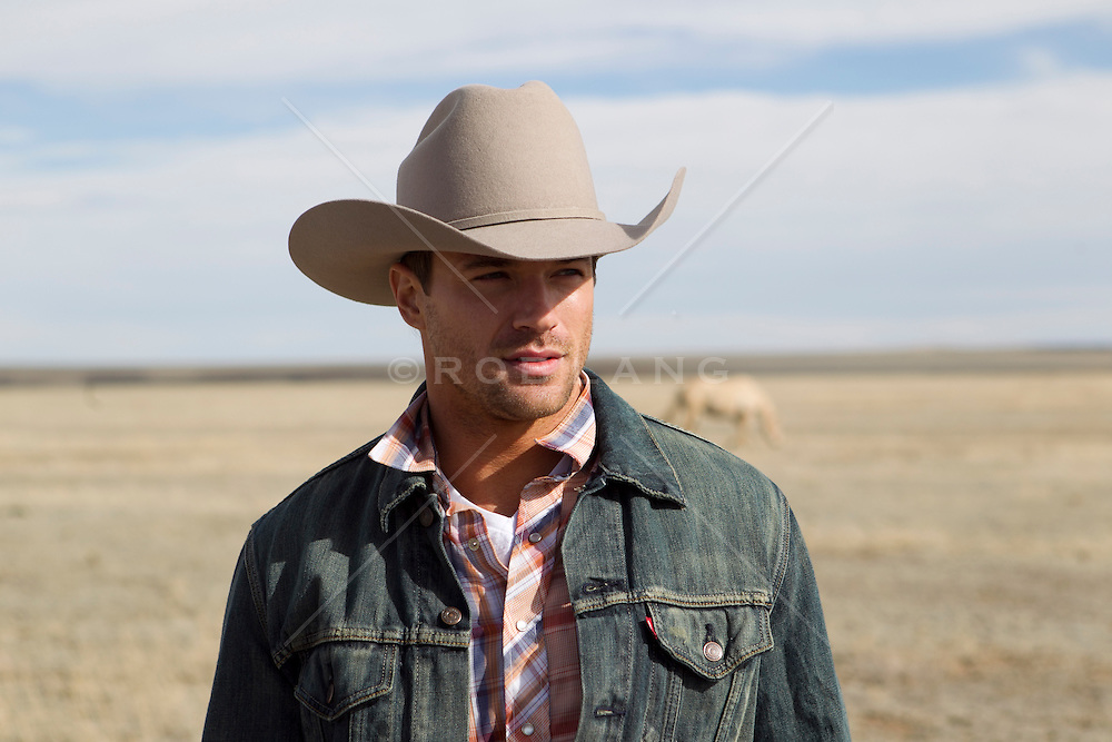 rugged cowboy on a ranch in New Mexico