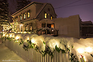 Fresh snowfall adorns the Garden Wall Bed and Breakfast in Whitefish Montana
