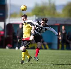 Edinburgh City became the first club to be promoted to Scottish League Two. East Stirling 0 v 1 Edinburgh City, League play-off game.