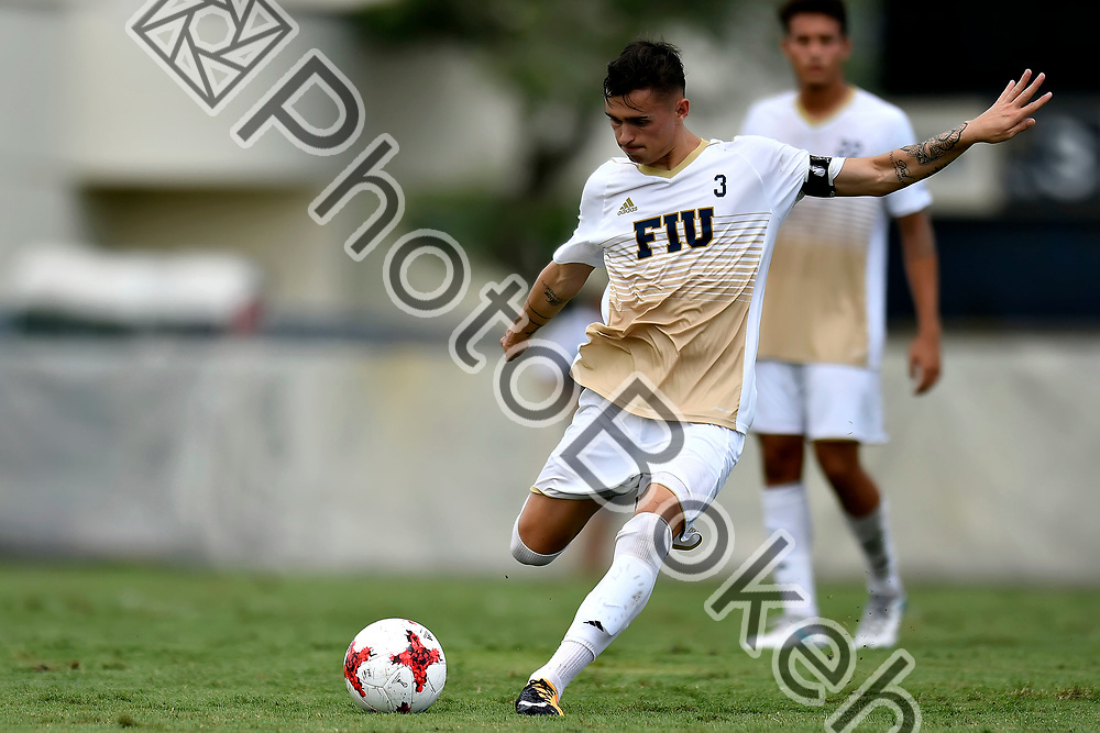 2017 September 03 - FIU's Paul Marie (3). FIU Men's Soccer defeated Charlotte, 3-2, at FIU Soccer Complex, Miami, Florida. (Photo by: Alex J. Hernandez / photobokeh.com) This image is copyright by PhotoBokeh.com and may not be reproduced or retransmitted without express written consent of PhotoBokeh.com. ©2017 PhotoBokeh.com - All Rights Reserved