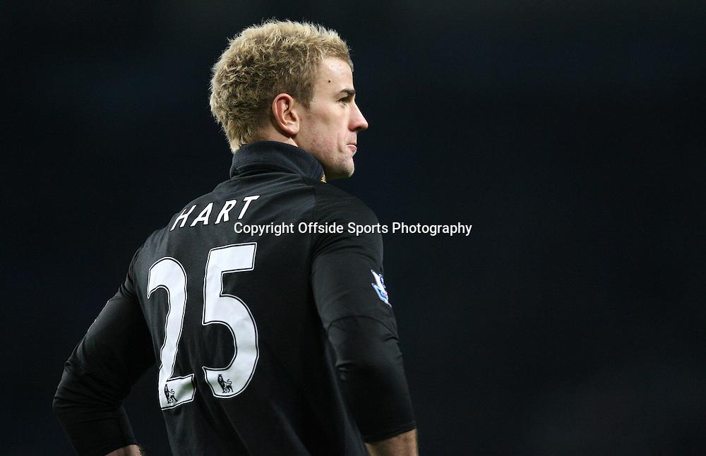 20/12/2010 - Barclays Premier League - Manchester City vs. Everton - Man City goalkeeper Joe Hart - Photo: Simon Stacpoole / Offside.