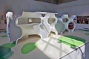 """12th Biennale of Architecture. Arsenale. Toyo Ito, Japan. .""""Taichung Metropolitan Opera House"""", 2005 (under construction)."""