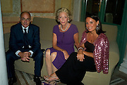 BARON JEAN DE GUNZBERG; ARIANE DANDOIS; BARONNE TERRY DE GUNZBERG.  Christie's Gala. Casa Austria.  Amadeus Weekend. Salzburg. 22 August 2008.  *** Local Caption *** -DO NOT ARCHIVE-© Copyright Photograph by Dafydd Jones. 248 Clapham Rd. London SW9 0PZ. Tel 0207 820 0771. www.dafjones.com.