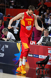 10.09.2014, Palacio de los deportes, Madrid, ESP, FIBA WM, Frankreich vs Spanien, Viertelfinale, im Bild Spain&acute;s Marc Gasol disappointment // during FIBA Basketball World Cup Spain 2014 Quarter-Final match between France and Spain at the Palacio de los deportes in Madrid, Spain on 2014/09/10. EXPA Pictures &copy; 2014, PhotoCredit: EXPA/ Alterphotos/ Victor Blanco<br /> <br /> *****ATTENTION - OUT of ESP, SUI*****