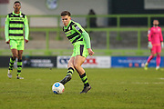 Forest Green Rovers Charlie Cooper(20)  passes the ball during the Vanarama National League match between Forest Green Rovers and Boreham Wood at the New Lawn, Forest Green, United Kingdom on 11 February 2017. Photo by Shane Healey.