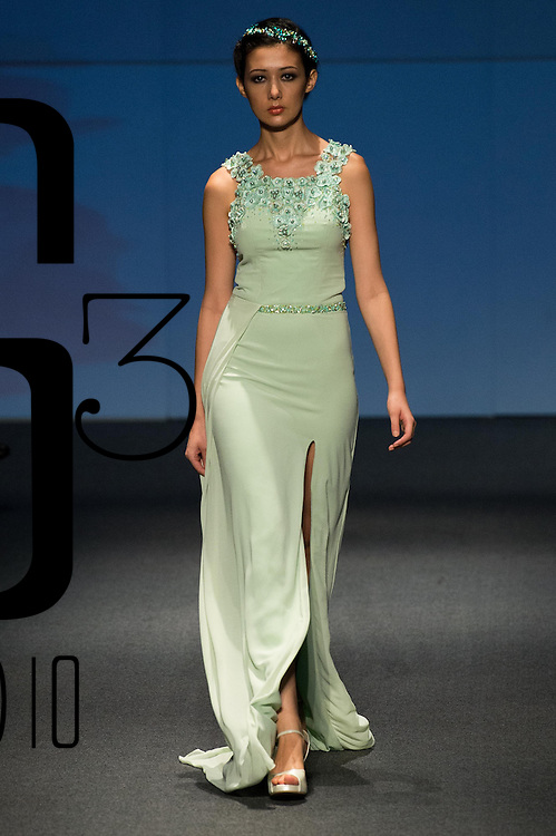 A model showcases designes by ZeevanCo by Meggie during the Day 1 of the Hong Kong Fashion Week for Spring / Summer 2014 at the Hong Kong Convention and Exhibition Centre on 07 July 2014 in Hong Kong. Photo by Aitor Alcalde / studioEAST