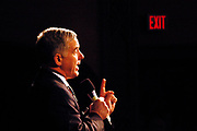 Manchester, New Hampshire, USA, 26.01.2004; An exit sign is glooming in the background as Howard Dean holds a speach at a rally at Palace Theater in Manchester.<br /> <br /> Photo; Orjan F. Ellingvag/ Dagbladet *** Local Caption *** , posted on Getty web ,