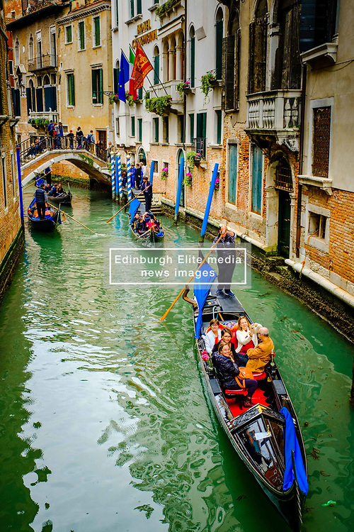 Gondolas on a canal in Venice, Italy<br /> <br /> (c) Andrew Wilson | Edinburgh Elite media