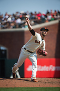 San Francisco Giants relief pitcher Hunter Strickland (60) pitches against the Philadelphia Phillies at AT&T Park in San Francisco, California, on August 20, 2017. (Stan Olszewski/Special to S.F. Examiner)