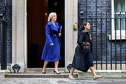 © Licensed to London News Pictures. 15/11/2016. London, UK. Justice Secretary LIZ TRUSS and International Development Secretary PRITI PATEL attend a cabinet meeting in Downing Street on Tuesday, 15 November 2016. Photo credit: Tolga Akmen/LNP