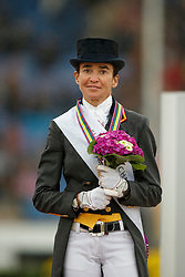 Podium Kür, Ferrer Salat Beatriz, (ESP)<br /> Grand Prix Kur<br /> European Championships - Aachen 2015<br /> © Hippo Foto - Dirk Caremans<br /> 16/08/15