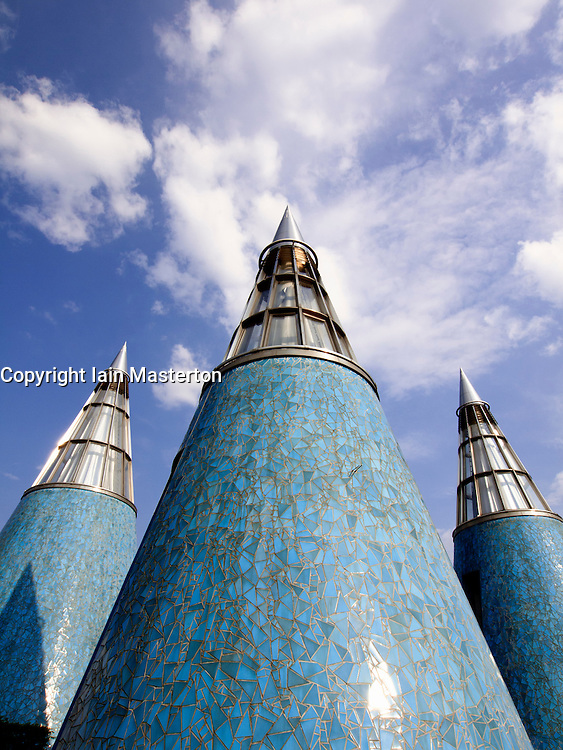 Roof structures on Art And Exhibition Hall Of The Federal Republic Of Germany on Museum Mile in Bonn Germany