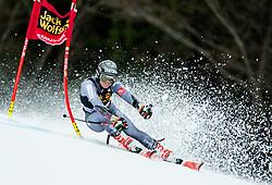 "Adeline Baud Mugnier (FRA) competes during 1st Run of the FIS Alpine Ski World Cup 2017/18 5th Ladies' Giant Slalom race named ""Golden Fox 2018"", on January 6, 2018 in Podkoren, Kranjska Gora, Slovenia. Photo by Ziga Zupan / Sportida"
