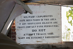 military explosives sign