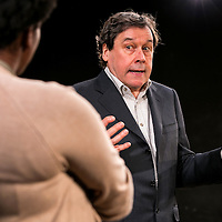 Cyprus Avenue by David Ireland;<br /> Directed by Vicky Featherstone;<br /> Stephen Rea as Eric Miller;<br /> Wunmi Mosaku as Bridget;<br /> Jerwood Theatre Upstairs;<br /> Royal Court Theatre, London, UK;<br /> 5 April 2016