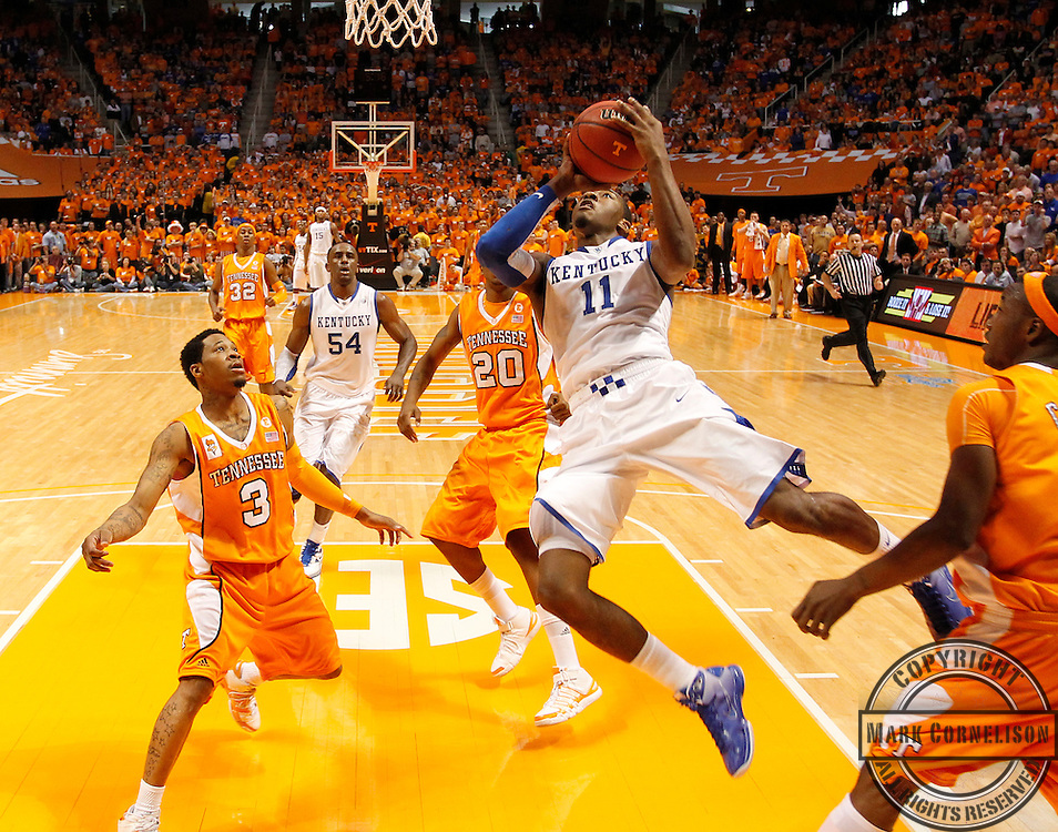 as Kentucky lost to Tennessee 74-65  on Saturday February 27,  2010 in Knoxville,TN. Photo by Mark Cornelison | Staff
