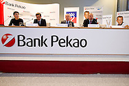 (L-R) Luigi Lovagio and Piotr Krzystek and Krzysztof Bobala press conference before tennis tournament Pekao Szczecin Open 2013 in Pekao Bank in Warsaw..<br /> <br /> Poland, Warsaw, September 09, 2013<br /> <br /> Picture also available in RAW (NEF) or TIFF format on special request.<br /> <br /> For editorial use only. Any commercial or promotional use requires permission.<br /> <br /> Photo by © Adam Nurkiewicz / Mediasport