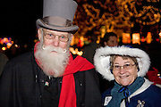 "Wisconsin USA, ""Rotary lights"" ? A Christmas night parade at La Crosse A dressed up couple November 2006"