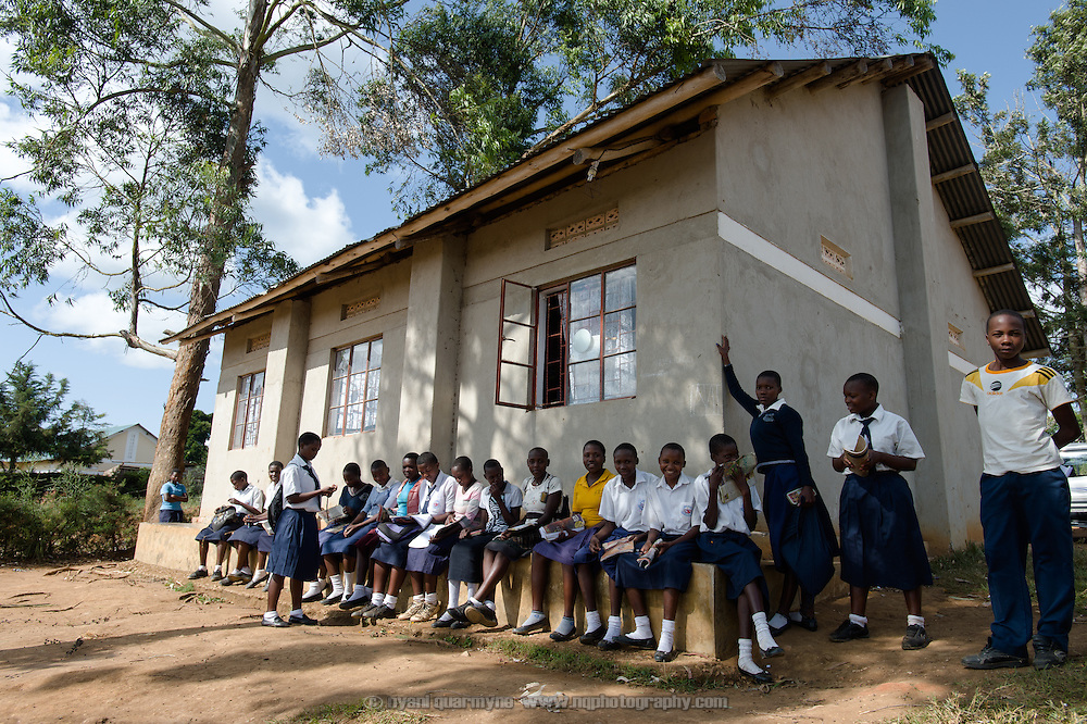 Part of the operations of Afripads is located in the old library building at the local secondary school in Kitengeesa in the Central Region of Uganda, seen on 30 July 2014. Founded by volunteers in 2009, Afripads is a social enterprise that manufactures affordable reusable sanitary pads.