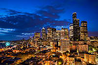 Downtown Seattle, Blue Hour Mood