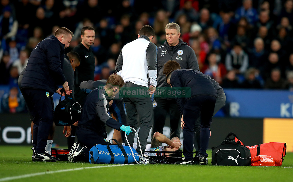 Burnley's Robbie Brady is treated by medical staff