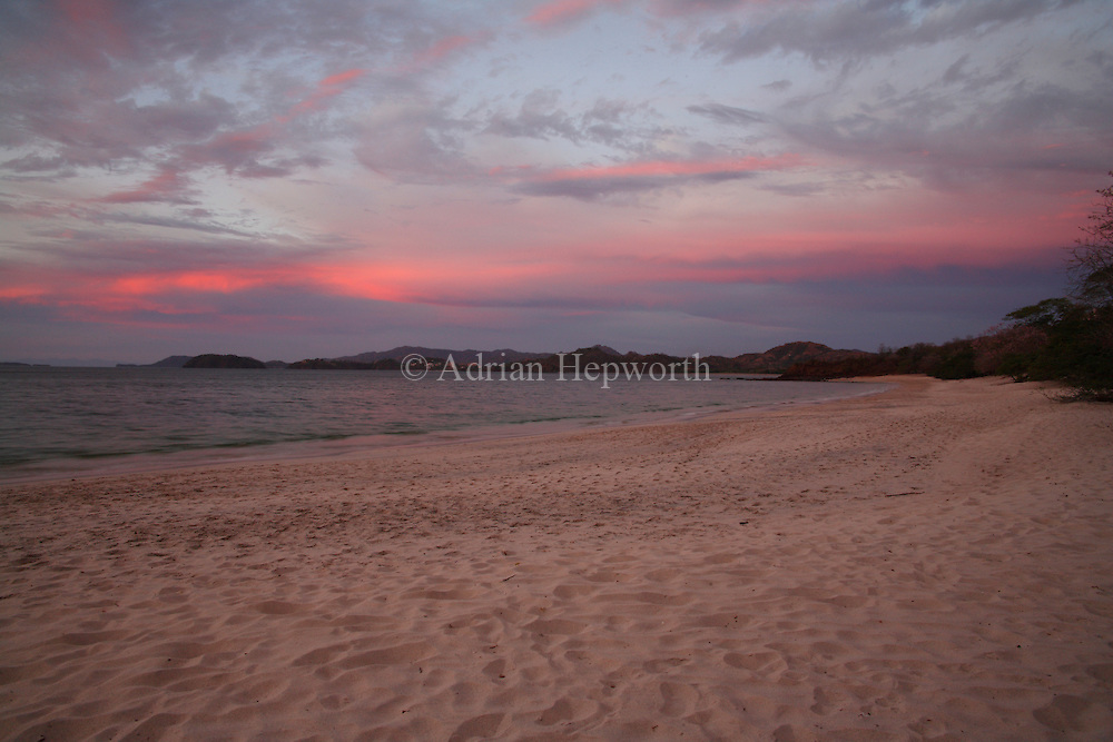 Conchal Beach at sunset, Guanacaste, Costa Rica. <br />