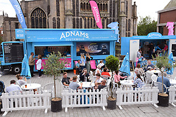 Adnams pop-up bar at Norwich Food & Drink Festival taking place in and around The Forum, 16 June 2019. Norwich UK