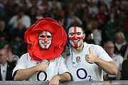 England fans prior to kick off during the Rugby World Cup Pool A match between England and Australia at Twickenham, Richmond, United Kingdom on 3 October 2015. Photo by Matthew Redman.