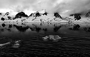Landscape at Raudfjorden, northern Spitsbergen, Svalbard.