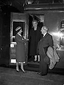 1959 - Mr Sean McEntee at Kingsbridge (Heuston) station, Dublin