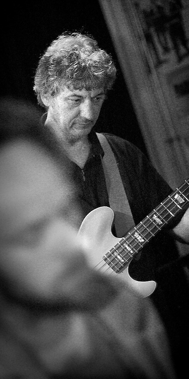 GRONINGEN, NETHERLANDS - 5/7/04: Gerard Ammerlaan is bassist van de Groningse band East Gate. Try out in café Buckshot.