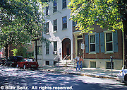 Urban Renewal, Street Scene, Restored Rowhouses, West Chester, PA