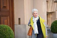 DEU, Deutschland, Germany, Berlin, 30.10.2017: Marie-Agnes Strack-Zimmermann (MdB, FDP) vor den Sondierungsgesprächen zwischen CDU/CSU, FDP und Bündnis 90/Die Grünen in der Deutschen Parlamentarischen Gesellschaft.