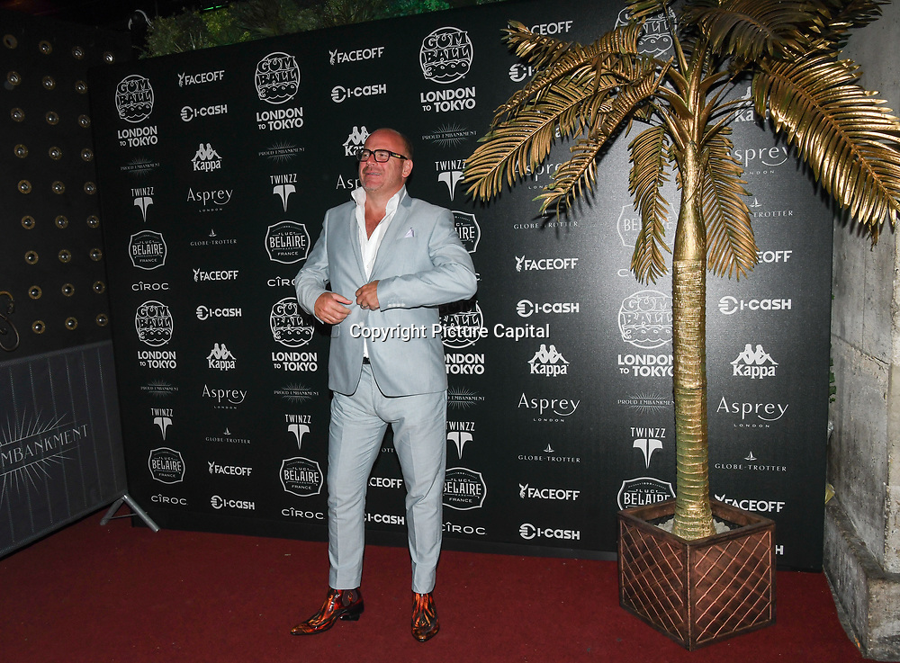 Alexander Proud attend the Official launch party for the annual Gumball 3000 Rally took place at Proud Embankment on August 4 2018, London, UK.