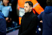 FC Schalke 04 Manager Domenico Tedesco during the Champions League round of 16, leg 2 of 2 match between Manchester City and FC Schalke 04 at the Etihad Stadium, Manchester, England on 12 March 2019.