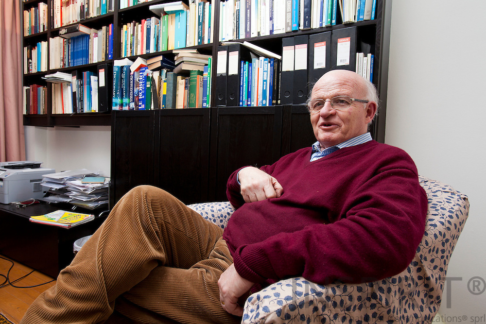 Peter Ludlow, historian, author, consultant and president of the Executive Committee of the European Strategy Forum, during a interview in his study at his private home in Brussels on Tuesday 14 December 2010. Photo Erik Luntang /INSPIRIT Photo