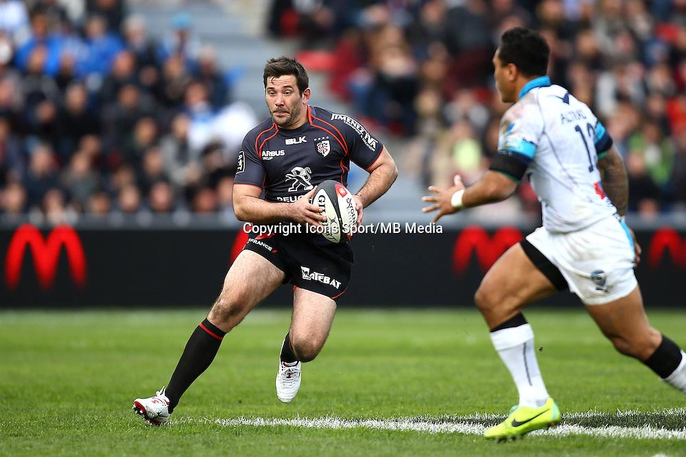 Florian Fritz - 14.03.2015 - Toulouse / Montpellier - 20e journee Top 14<br /> Photo : Manuel Blondeau / Icon Sport