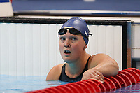 Paralympics - Swimming - Women's 50m Butterfly S7, heat 2<br /> Marianne Fredbo of NOR disappointed with finishing last in her heat at the Aquatics Centre, in the Olympic Park, Stratford, UK