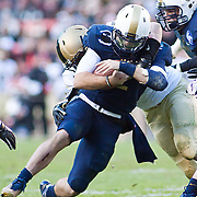 Navy Quarterback Kriss Proctor #2 rush for 2 yards to the ARMY 10 yard line in 2nd quarter of the 112th version Of this storied rivalry Saturday, Dec. 10, 2011 at Fed EX field in Landover Md. ..Navy set the tone early in the game as Navy defeats Army 31-17 in front of 82,000 at Fed EX Field in Landover Md
