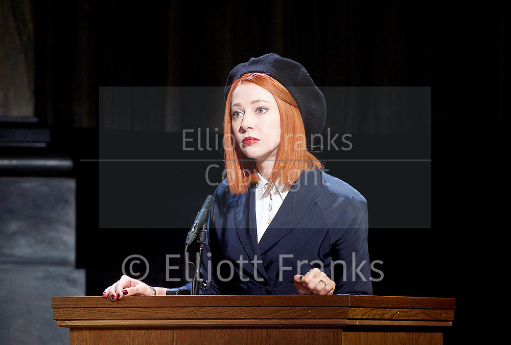 Witness for the Prosecution by Agatha Christie <br /> at London County Hall, Southbank, London, Great Britain <br /> press photocall <br /> 20th October 2017 <br /> <br /> directed by Lucy Bailey <br /> <br /> <br /> <br /> Catherine Steadman as Romaine <br /> <br /> <br /> <br /> <br /> <br /> <br /> Photograph by Elliott Franks <br /> Image licensed to Elliott Franks Photography Services