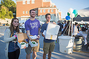 From left to right, Gabriella Lopez, Kyle Taylor, and Luc Messenger hold up cakes that they won during BobcaThon's cake walk on October 5, 2016.