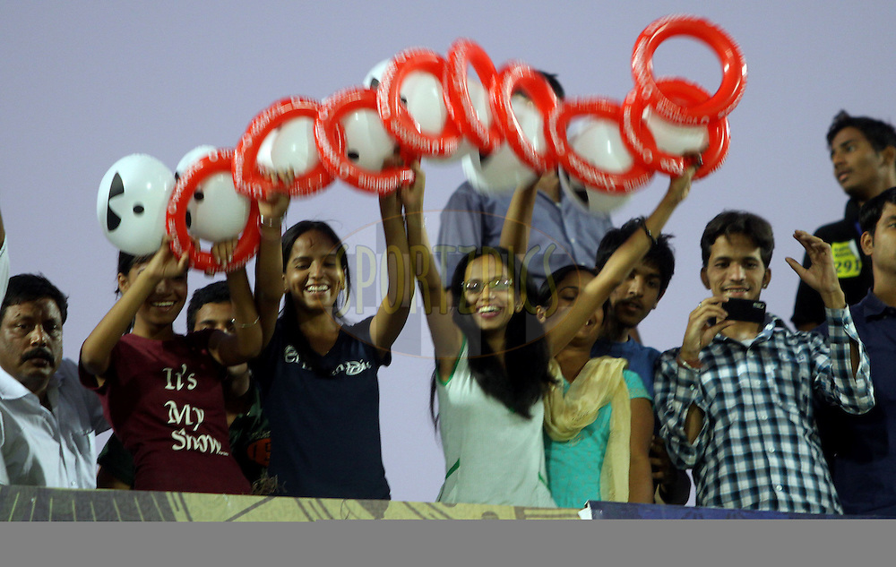 Crowd during match 34 of the the Indian Premier League ( IPL ) Season 4 between the Rajasthan Royals and the Mumbai Indians held at the Sawai Mansingh Stadium, Jaipur, Rajatshan, India on the 29th April 2011..Photo by Sandeep Shetty/BCCI/SPORTZPICS.