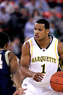 25 November 2005: Marquette Golden Eagle Dominic James (1), a freshman guard, runs the offense in the Marquette University 73-70 victory over Oral Roberts University at the Great Alaska Shootout in Anchorage, Alaska