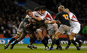 Twickenham, GREAT BRITAIN, Phil VICKERY, [with thw ball], is driven on by Martin CORRY during the, Investec 2006 Rugby Challenge, England vs South Africa, at Twickenham Stadium, ENGLAND on Sat 25.11.2006. [Photo, Peter Spurrier/Intersport-images]