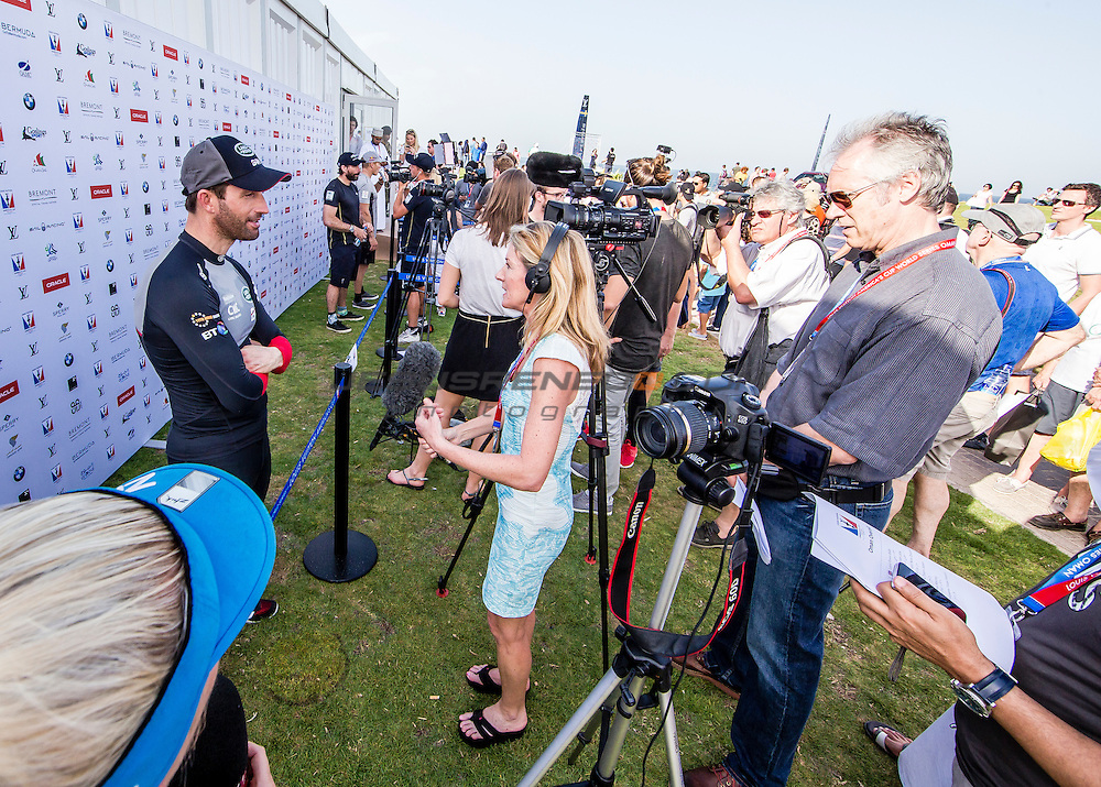 America's Cup arrives in Muscat.Louis Vuitton America's Cup World Series Oman 2016.First day of racing.Ben Ainslie .Muscat ,The Sultanate of Oman.Image licensed to Jesus Renedo/Lloyd images/Oman Sail