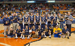Magnolia poses for a picture after winning the Class A championship game at the Charleston Civic Center.