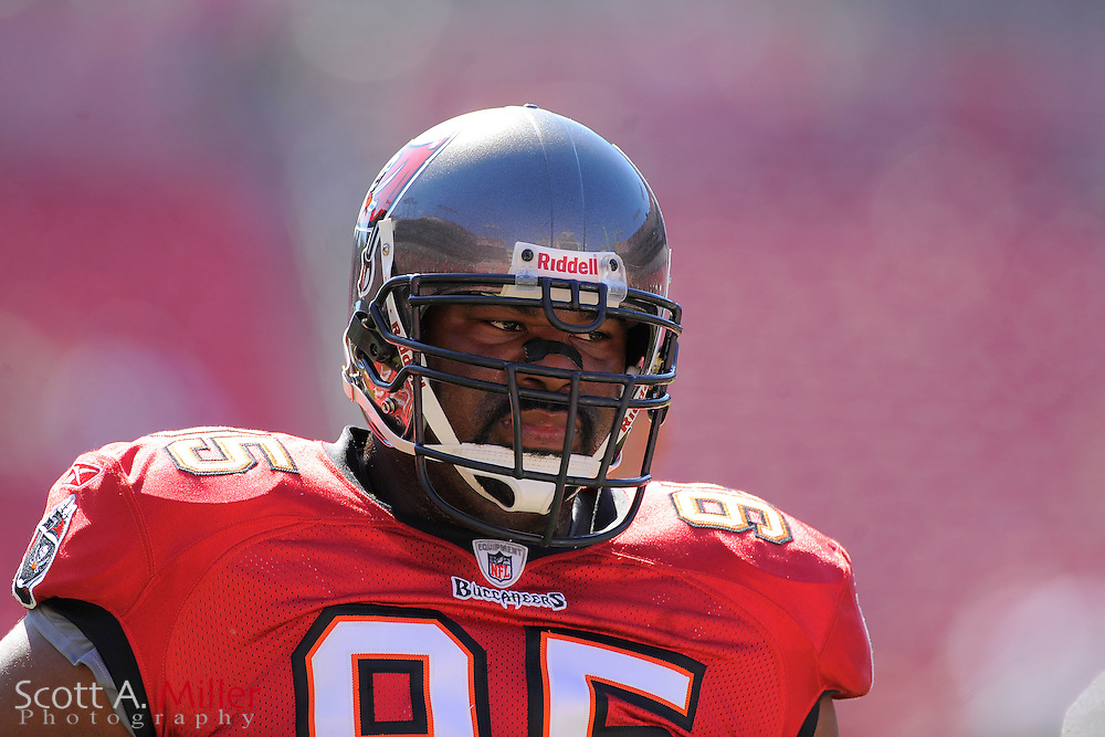 Tampa Bay Buccaneers defensive tackle Albert Haynesworth (95) during the Bucs game against the Houston Texans at Raymond James Stadium on Nov. 13, 2011 in Tampa, Fla.  ..©2011 Scott A. Miller
