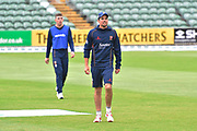 Alastair Cook of Essex warming up ahead of the Specsavers County Champ Div 1 match between Somerset County Cricket Club and Essex County Cricket Club at the Cooper Associates County Ground, Taunton, United Kingdom on 26 September 2019.