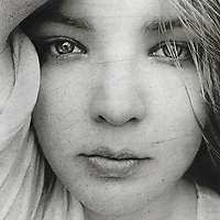Close up of a young woman's face
